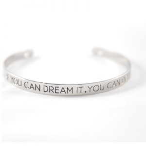 Bracelet citation argenté Dream It Do it non porté