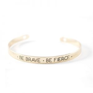 Bracelet citation doré Brave non porté