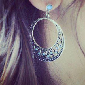 Boucles d'oreilles ethniques rondes